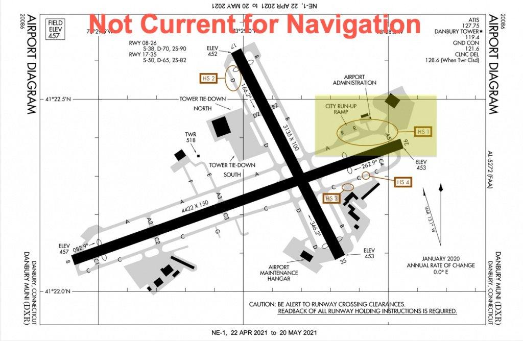 KDXR Airport Diagram