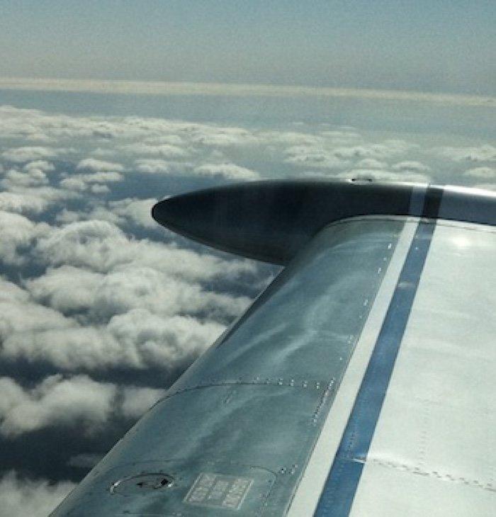 N9003S Wing - Clouds